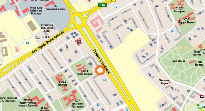 Офис Бургас Карта