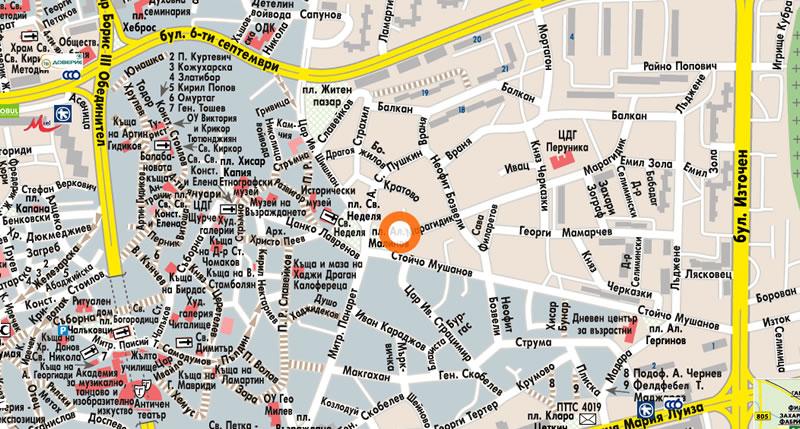 Офис Пловдив Карта