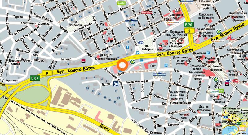 Офис Варна Карта
